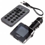 Modulator FM Tuadia RDS Plus, functie MP3 player, ecran LCD, slot SDHC, USB, Telecomanda, Line-in
