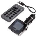 Modulator FM Tuadia RDS Plus, functie MP3 player, ecran LCD, slot SDHC, USB, Telecomanda, Line-in