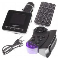 Modulator FM Tuadia RING, functie MP3 player, ecran LCD, slot SDHC, USB, Telecomanda, Telecomanda suplimentara de volan, Line-in