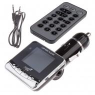 Modulator FM Tuadia ZOOM, functie MP3 player, ecran LCD, slot SDHC, USB, Telecomanda, Line-in