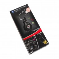 Car Kit Bluetooth, FM transmitter & dual USB charger TUADIA MULTIPOINT, hands-Free, dual point, multiuser