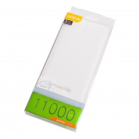 Acumulator extern POWERZILLA LP11Q 11000mAh Power Bank cu Afisaj LED, cablu & adaptor apple integrat, Universal Powerbank
