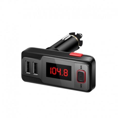 Car kit Bluetooth & FM transmitter Tuadia BT719S, cititor TF card,, priza USB 2.1 A