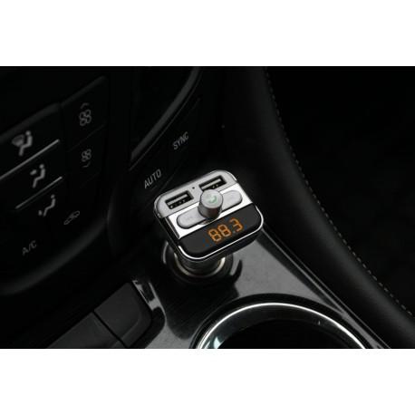 Car kit Bluetooth & FM transmitter Tuadia BT20, priza USB 2.4 A